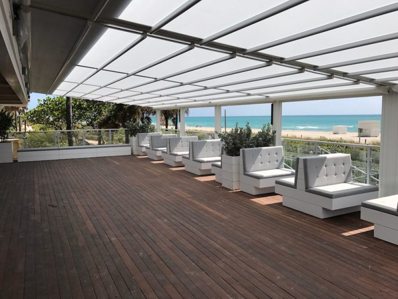 Custom Booth Seating – Malibu Farm Restaurant Nobu Hotel Miami Beach
