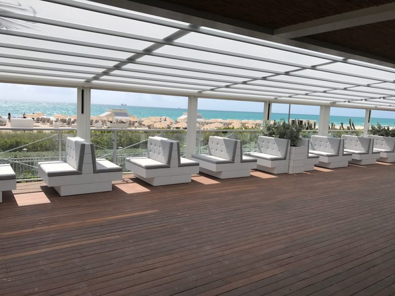 Custom Seating – Malibu Farm Restaurant Nobu Hotel Miami Beach